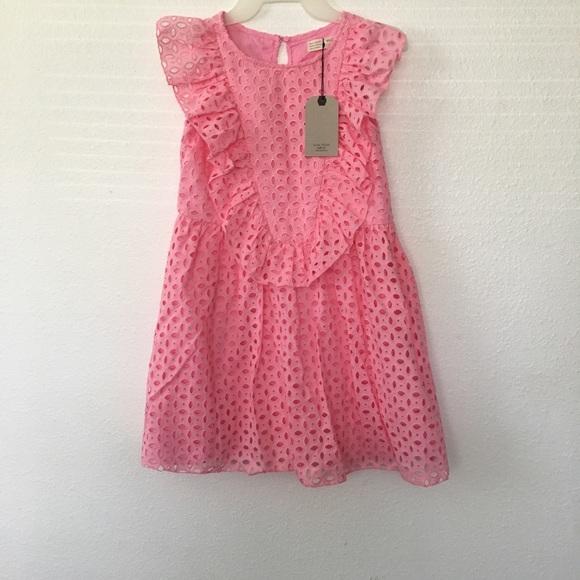 0d436fba91 ZARA Kids Dress with Swiss Embroidery, Pink, NEW NWT